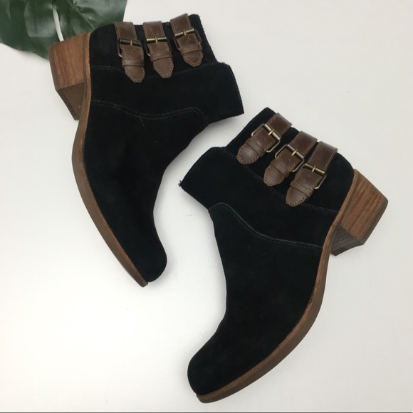 7a34e7aef3c1c UGG Volta Suede Leather Buckle Ankle Boots